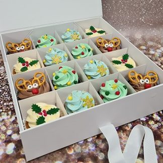 vanocni cupcakes