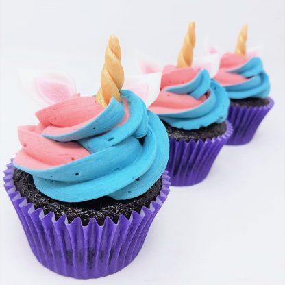 Unicorn cupcake pink blue