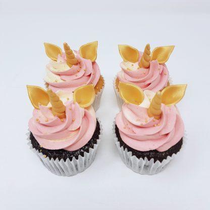 Unicorn pink cupcake