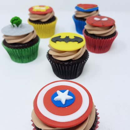 Tematicke cupcakes avengers