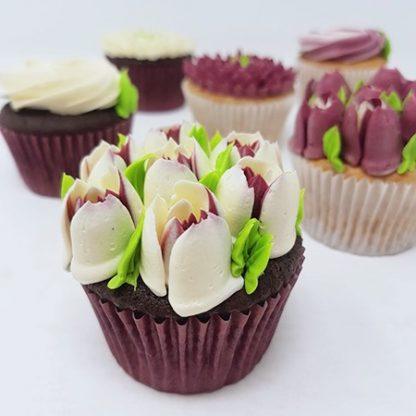 Kvetinove cupcakes