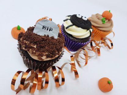 Halloweenské cupcakes
